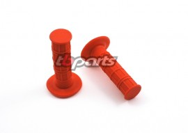 Waffle Hand Grips for 7/8 Handlebars - Red