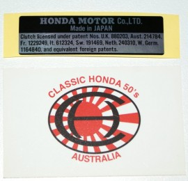 87125-001-600 Honda Motor Co LTD Made in Japan Decal