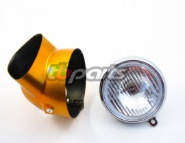 Aftermarket Headlight Assembly with Candy Gold Bucket - CT70 Models