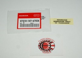 87510-147-670ZA Tank Decal - Operator Only