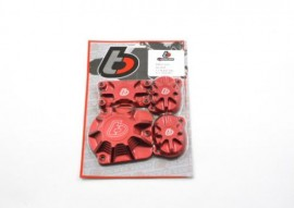 TB Billet Cover Set for the NEW V2 Honda and China Head - Red [TBW0852]