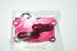 TB V2 Red Billet Oil Cooler Adaptor Cover [TBW0854]