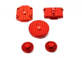 TB Billet Head Cover Set - Red - [TBW1327]